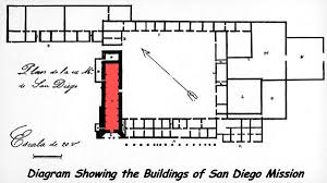 Layout Of Floor Plan Layout Of San Diego De Alcala California Missions Resource Center