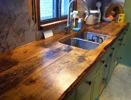 Rustic Kitchen Faucet by Countertops Farmhouse Kitchen Black Painted Wood Countertop With