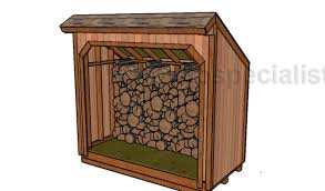 Free Wooden Shed Plans by 4x8 Firewood Storage Shed Free Plans Howtospecialist How To