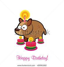 birthday cardbirthday cakevector funny happy birthday stock vector