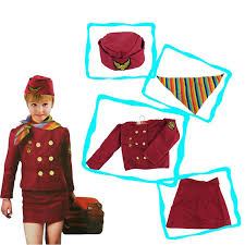 air hostess flight attendant stewardess uniform fancy dress