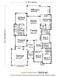 100 5 bedroom 1 story house plans 4 bedroom house plans