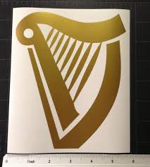 vinyl wedding invitations harp golden vinyl decal sticker guinness free shipping