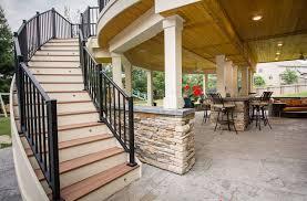 backyard renovation resort like with multiple spaces a bar u0026 spa