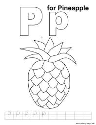 pineapple free alphabet s3992 coloring pages printable