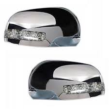 tata sumo speedwav car mirror covers with indicator set of 2 chrome tata