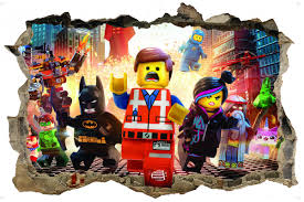 wall stickers lego movie 3d style wall sticker