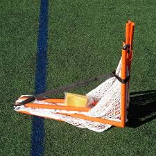 cage club v4 full size folding lacrosse goal with shot blocker