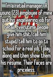 Resume Of Mine I U0027m A Retail Manager A Young 23 Employee Of Mine Quit His
