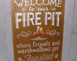 Firepit Signs Firepit Signs Etsy