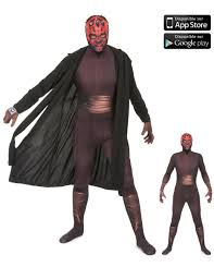 morph halloween costume zapper darth maul morphsuits costume for adults vegaoo