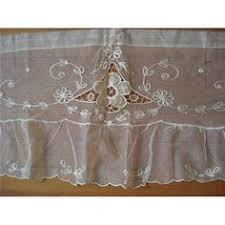 French Lace Kitchen Curtains Blue Kitchen Curtains French Lace Curtains Tier By Hatchedinfrance