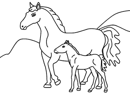 printable coloring pages horses u2013 printable editable 2018