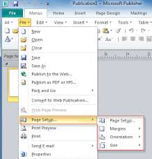 microsoft word publishing layout view where is page setup in office 2007 2010 2013 and 365