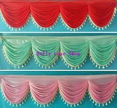Pink And Teal Curtains Decorating 6 Meter And Luxury Wedding Table Skirting Swags With