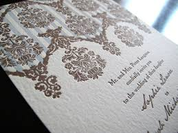 wedding invitations printing five types of invitation printing letterpress thermography foil