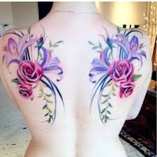 flowers placement instead of wings tat