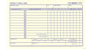 6 best images of printable time card template for construction