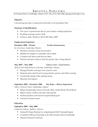 Job Resume Objective Restaurant by Resume Objective Line Resume Bio Examples