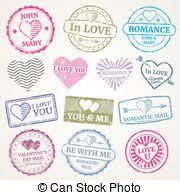 timbre poste mariage vecteur eps de timbres poste vecteur mariage csp8846534