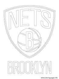 lakers coloring pages brooklyn nets logo nba sport coloring pages printable
