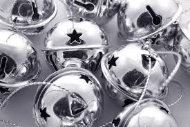photo of shiny round silver christmas bells free christmas images