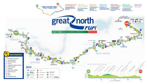 Map Run Route by Great North Run World U0027s Marathons