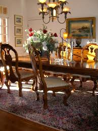 nice dining table decor with flowers and placemats also country