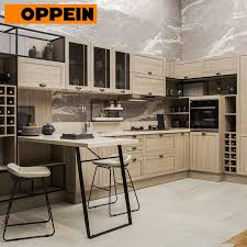 kitchen cabinets light wood color item oppein industrial style light wood grain fitted kitchen furniture cabinets