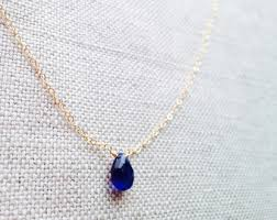 jewelry blue sapphire necklace images Sapphire etsy jpg