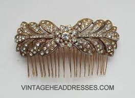 hair comb gold vintage hair comb by debbi harrison bond