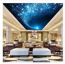 chambre ciel étoilé 3d stéréoscopique papier peint ktv plafond salon chambre mur de fond