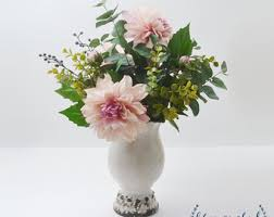 Home Decor Flower Arrangements Peony Arrangement Silk Peonies Flower Arrangement Silk