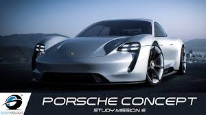 porsche concept porsche concept study mission e official trailer youtube