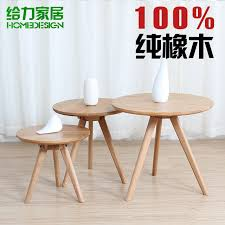 small round coffee table solid wood ikea simple scandinavian