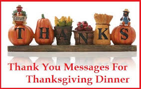 appreciation messages and letters thanksgiving dinner