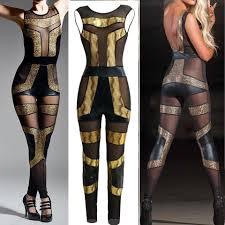 skin jumpsuit cheap rompers womens jumpsuit gold bodycon jumpsuit