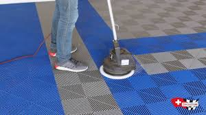 Racedeck Garage Flooring Cleaning by Swisstrax Cleaning 101 Youtube