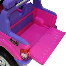 pink jeep bed ford ranger wildtrak 2017 licensed 4wd 24v battery ride on jeep