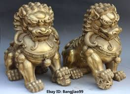 lion dog statue aliexpress buy 14 bronze foo fu dog guardion door