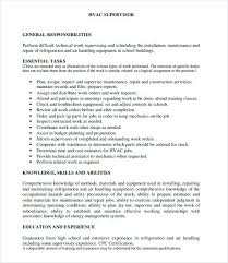 hvac resume template hvac resume templates resume resume cover letter hvac resume