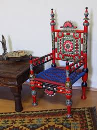 Online Furniture Shopping India Punjab A Pair Of Traditional Punjabi Tribal Chairs From Pakistan With