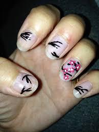 jersey texan heart cherry blossom nail art diy