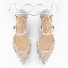 wedding shoes embellished frances embellished ivory wedding kitten heels