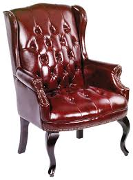 Wingback Chairs Leather Amazon Com Boss Office Products B809 By Wingback Traditional