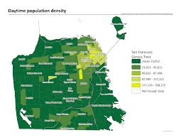 Twin Peaks Map Daytime Population Density San Francisco Climate And Health Profile