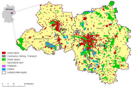 map of leipzig fig 3 land use map of the study region of leipzig halle the
