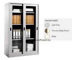 full height steel cupboard with glass sliding door