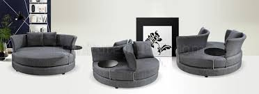 Modern Furniture Mississauga by Grey Fabric Modern Adjustable Circular Sofa W End Table