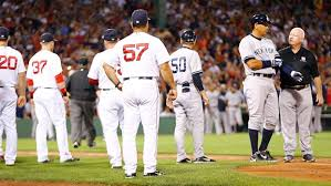Red Sox Yankees Benches Clear Baseball Players React As Benches Clear At Fenway Park Cbc